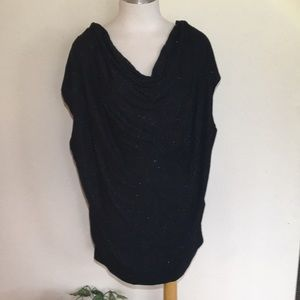 Lane Bryant Soft Scoop Neck Blouse w/Gold Flecks.